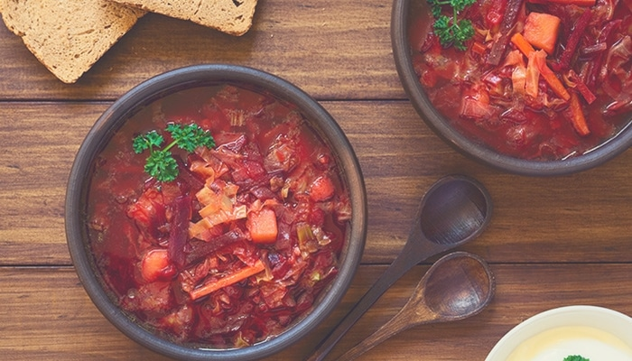 Pumpkin and Beetroot Soup